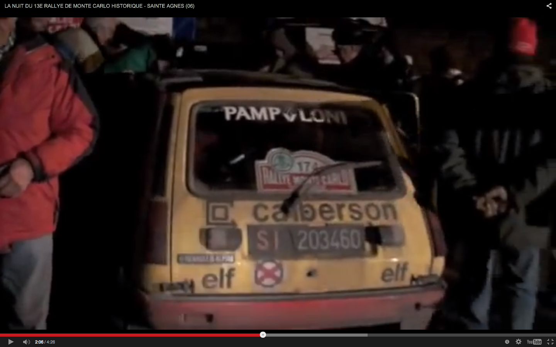 Nuit du 13e Rallye Historique de Monte-Carlo